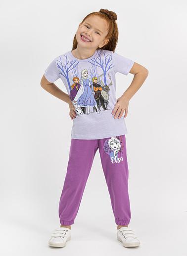 Frozen  Lisanslı Bebe Mavi Kız Çocuk Pijama Takımı Mavi